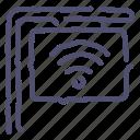 cafe, sign, street, wifi icon
