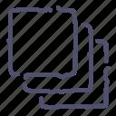 cascade, clone, copy, group, layers icon
