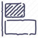 align, horizontal, left, objects icon