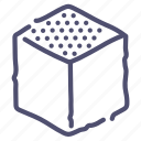 cube, design, edge, tool, top icon