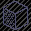 cube, design, edge, left, tool icon