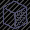 cube, design, edge, right, tool icon