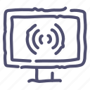broadcast, internet, television, tv, watch, wifi icon