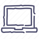 computer, desktop, device, laptop, screen icon