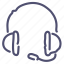 audio, headphones, headset, music, support icon