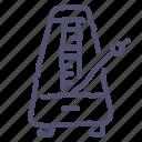 instrument, metronome, music, sound icon