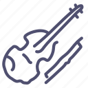 instrument, music, violin icon