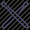 drum, instrument, music, stick, sticks icon