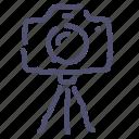 camera, digital, dslr, photo, stand, tripod icon