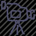 camcorder, camera, record, stand, tripod, video icon