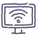 internet, smarttv, television, tv, wifi icon