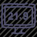 aspect, ratio, television, tv, ultrawide icon
