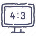 aspect, channel, device, ratio, television, tv, watch icon