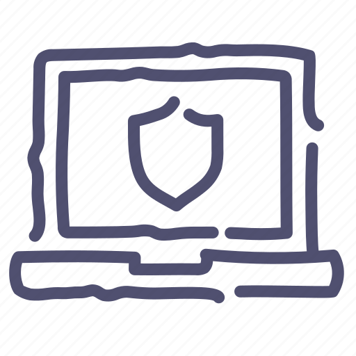 Encryption, laptop, protection, safe, secure, security, shield icon - Download on Iconfinder