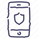 phone, protection, safe, security, shield icon