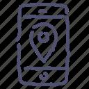 gps, location, map, navigation, phone, pin