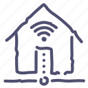 connection, home, house, internet, wifi icon
