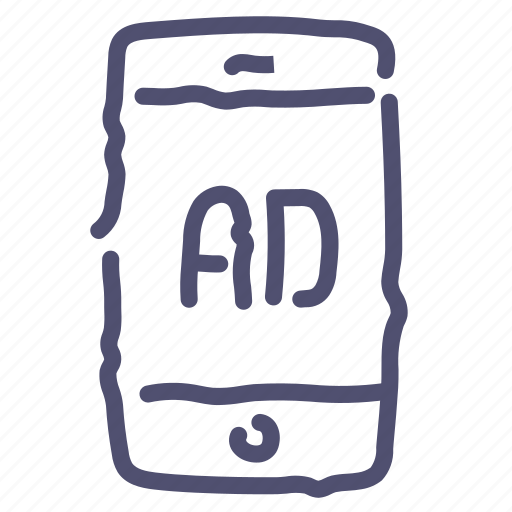 ad, advertise, advertisement, mobile, sponsor icon