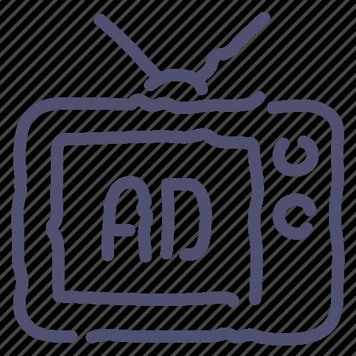 Advertise, advertisement, sponsor, tv icon - Download on Iconfinder