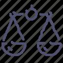 balance, scales icon