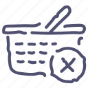 cart, checkout, delete, remove, shopping icon