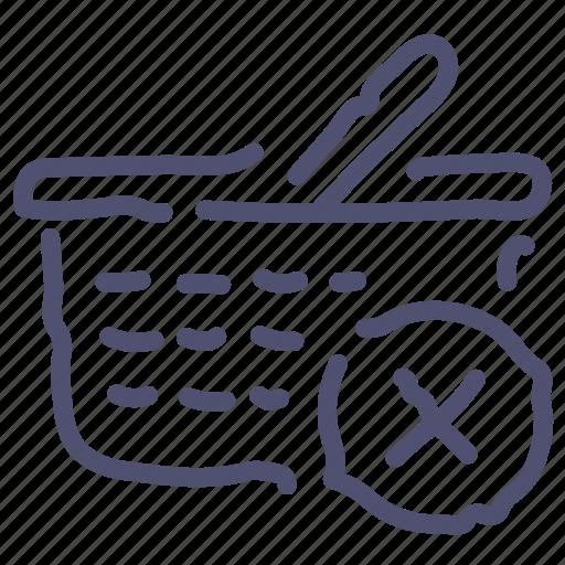 cart, checkout, delete, remove, shopping icon
