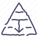 career, fall, finance, management, pyramid, structure icon