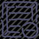 cargo, delete icon