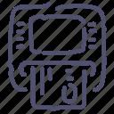 atm, card icon