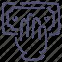 atm, money, hand icon