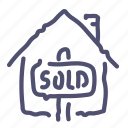 house, sold icon