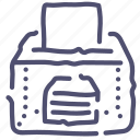 box, elections icon