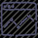 analytics, browser, economic, statistics icon