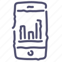 analytics, chart, economic, smartphone icon