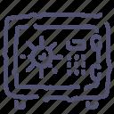 deposit, money, safe, secure, strongbox icon