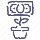 business, cash, grow, growth, money, rise icon