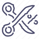 discount, offer, percent, price, sale, scissors icon