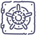 bank, deposit, finance, money, safe icon