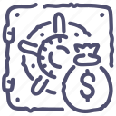 bag, bank, money, safe, secure icon