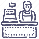 cashier, manager, seller, shop, store icon