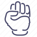 fist, gesture, hand, knuckle icon