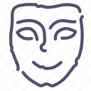face, happy, mask, smile icon