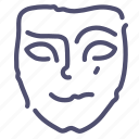 cheerful, mask icon