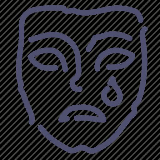 face, mask, sad, sadness icon