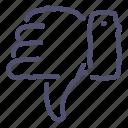 dislike, thumb down icon