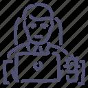 clerk, man, office icon