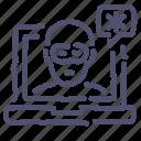 hack, hacker, laptop, security icon