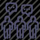 brainstorm, chat, company, comunity icon