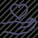 hand, heart, love, share icon