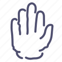 hand, palm, stop, warning icon